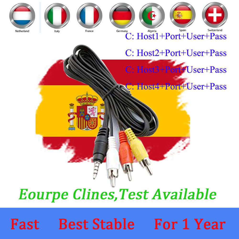 Spain Receptor Cccams cline for 1 year spain used for freesat v7 DVB-S2 OScam Cline satellite receiver europe channels 7 lines