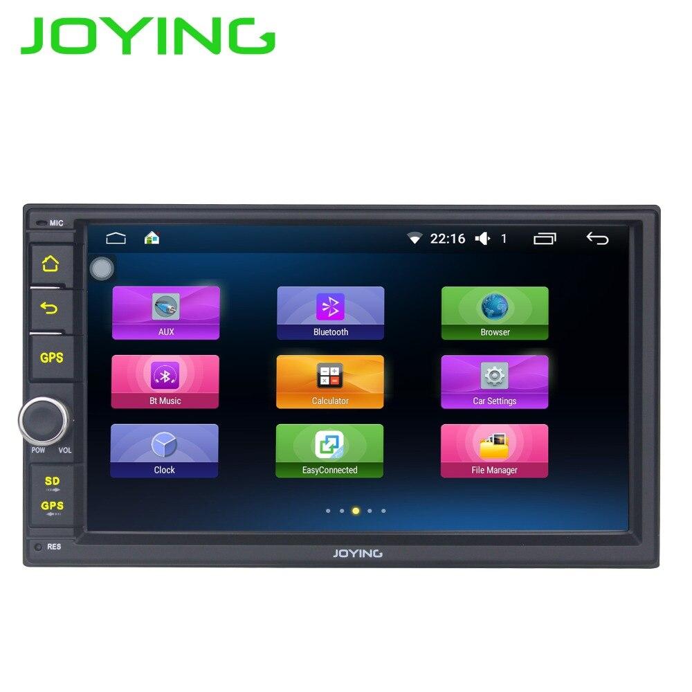imágenes para Joying Quad Core 7 Pulgadas 1024*600 2 Din Android 6.0 Car Audio de Radio estéreo Con GPS TV 3G WiFi Universal de Navegación GPS Unidad Principal