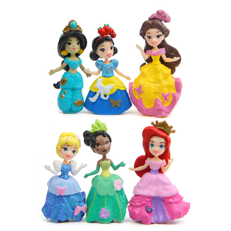 Dolls-Sets Figurines Vinyl Plastic Girls Princess Kids Super Cute PVC for Children Cake