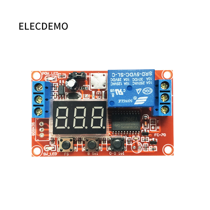 Image 4 - Multi function digital display adjustable power cycle high and low trigger pulse delay relay module 5V12V24V-in Demo Board Accessories from Computer & Office