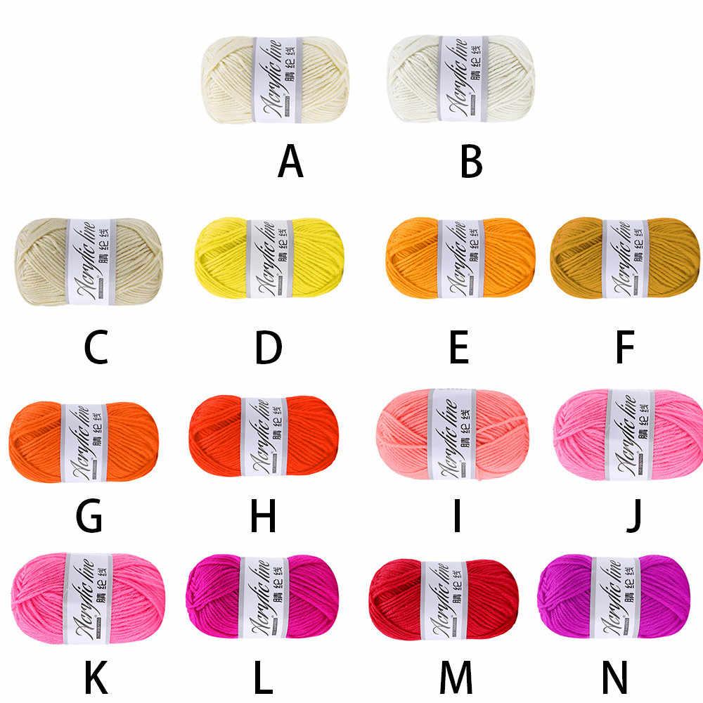 50g Chunky laine mérinos fil itinérant écharpe tricot laine à tricoter épaisseur de fil chaud chapeau ménage laine fil