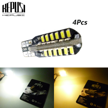 4 Pcs T10 led canbus W5W 48smd 3014 Canbus NO ERROR Car Auto Bulbs Light Parking Lamp light Reverse Lights DC 12V