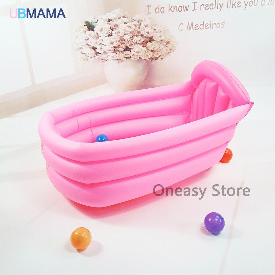 Baby inflatable bathtub kids bath tool home use thick