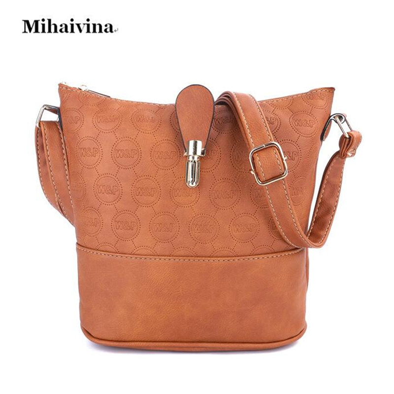 Mihaivina Casual Women Cross body Bag PU Leather Female Fashion Modern Messenger Shoulder Bags Lady Hobo Handbag Bolsas Designer genuine leather cross body top handle bags embossed natural skin hobo vintage female women messenger shoulder tote handbag