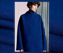 Tibetan blue knitting ring thick cashmere wool fabric dress coat printing super hollandais sequin design college fabric A260 цена и фото