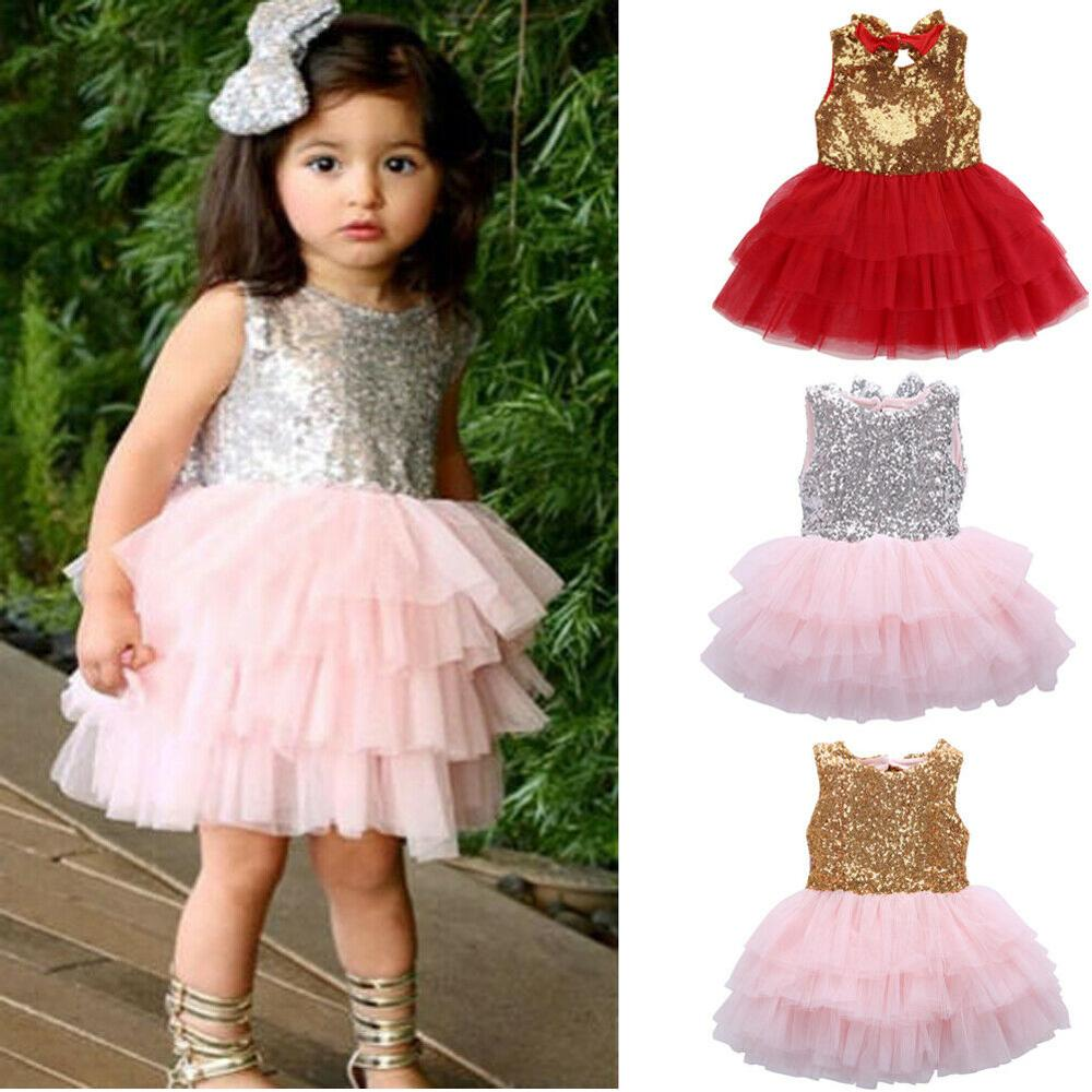 0-4Years,SO-buts Toddler Kids Baby Girls Ruffles Fly Sleeve Floral Flower Backless Party Tutu Gown Dress Sundress
