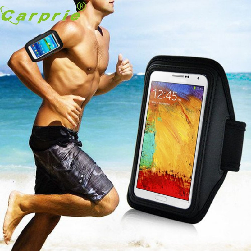 Top Quality Black Sport Gym Running Arm Band For Samsung Galaxy Note 3 2 N9000 N7100 Adjustable Armband Mobile Phone Bag