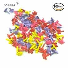 100Pcs 7mm Mixed Color Flower Scrapbook Plum Metal Brads For Kids Diy Photo Album Handmade Paper Gifts Embellishments