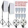 8PCS E27 LED Bulbs Photography Light Kit Photo Equipment 2PCS Cube Softbox Light Box Light Stand