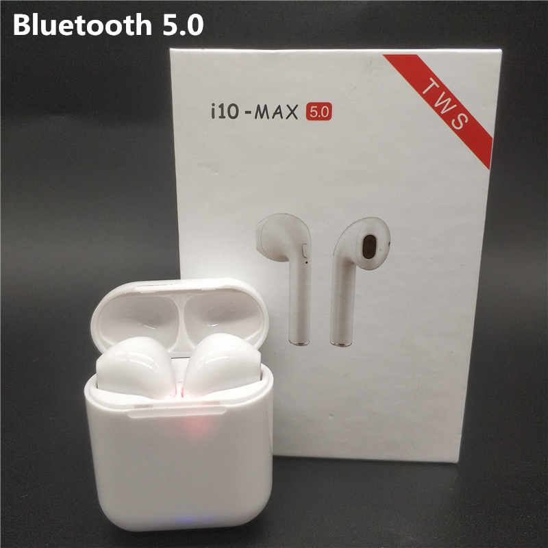 i10 max <font><b>TWS</b></font> Wireless Bluetooth Earphones Mini Earbuds Headsets For iphone Huawei LG Samsung S6 S8 Xiaomi 5 6 7 8 Redmi Note 8 <font><b>10</b></font> image