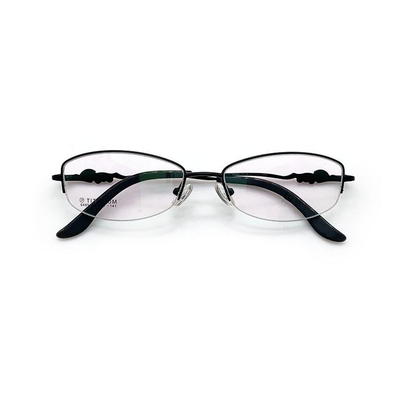 New fashion womens glasses pure titanium myopia frame trend literary half
