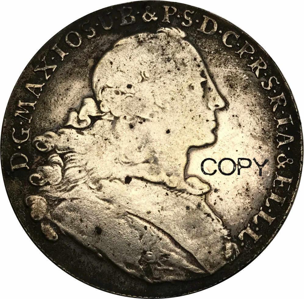 1755 הברית הגרמנית בוואריה טלר Cupronickel מצופה כסף מטבעות עותק