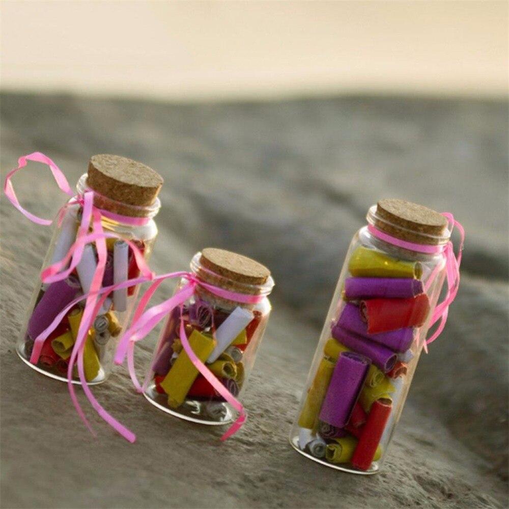 20ml 50ml 65ml 90ml Mini Glass Bottle With Cork Stopper Clear Jars Jewelry Box Empty Glass