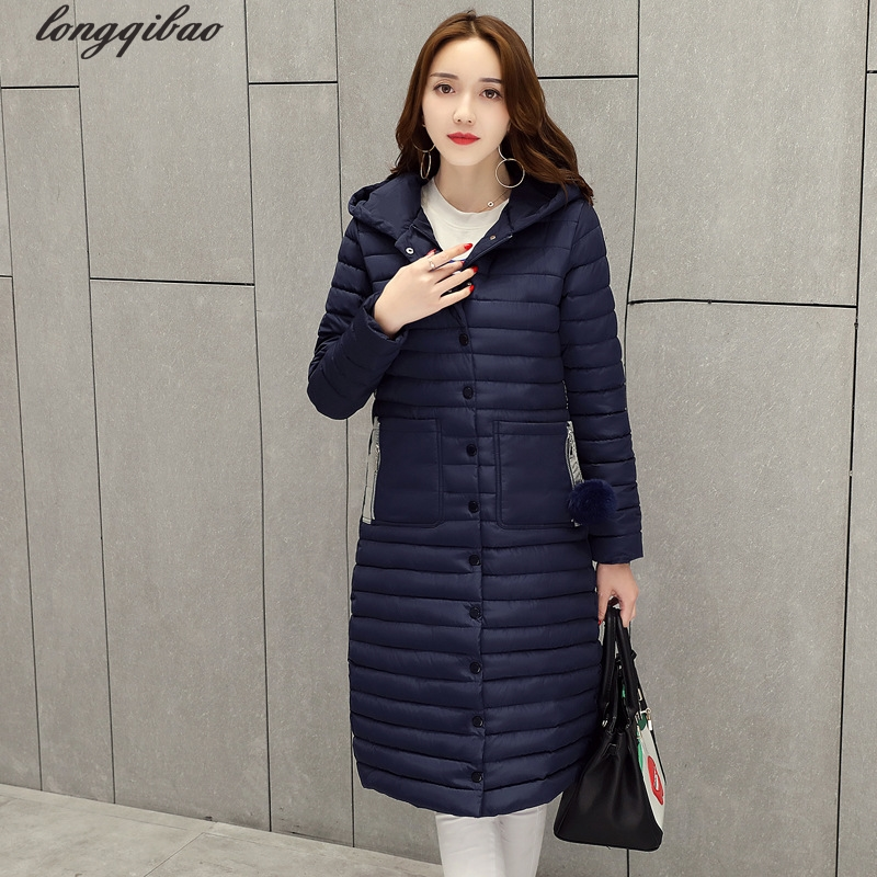 European and American women's new large size long section of thin hooded down jacket Slim cotton-padded Cotton clothing AL7793 2014 winter new top 90 european stations velvet waist slim flouncing long section of a large swing down
