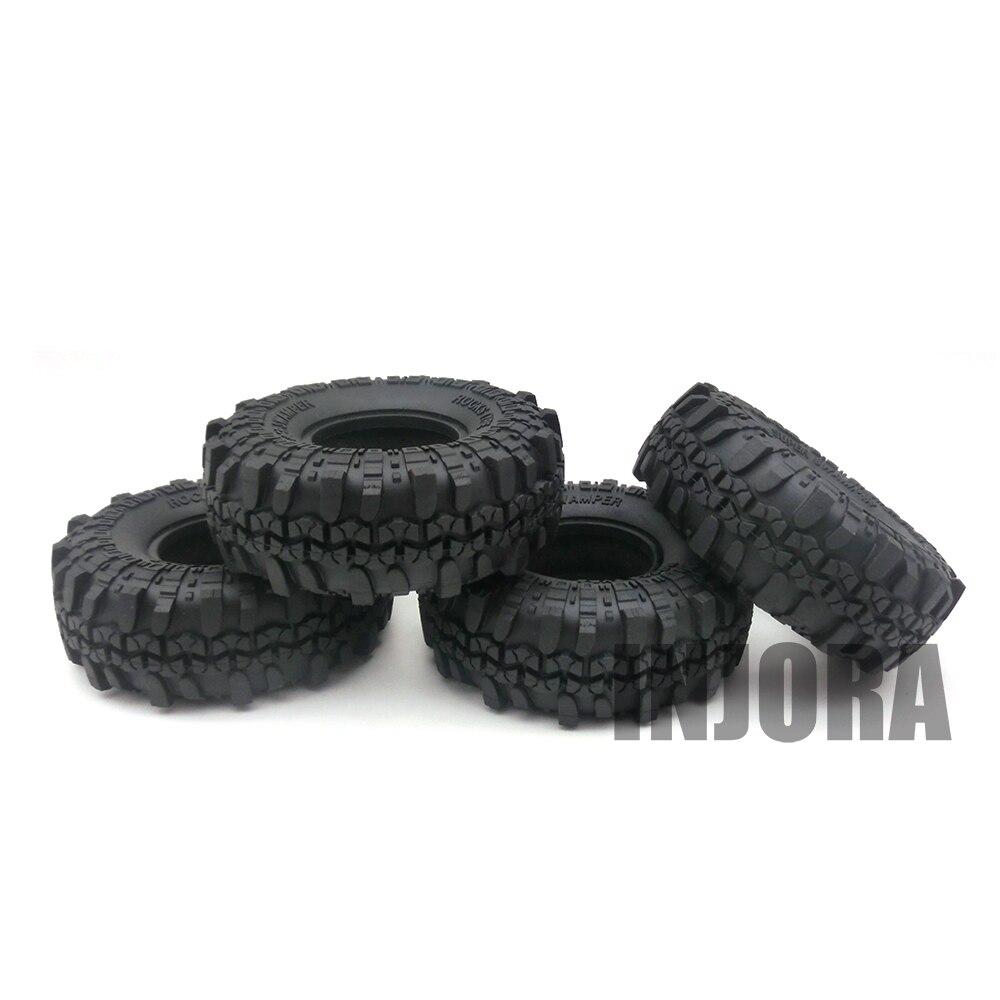 4PCS 1 9 Rubber Tyre Wheel Tires for 1 10 font b RC b font Rock
