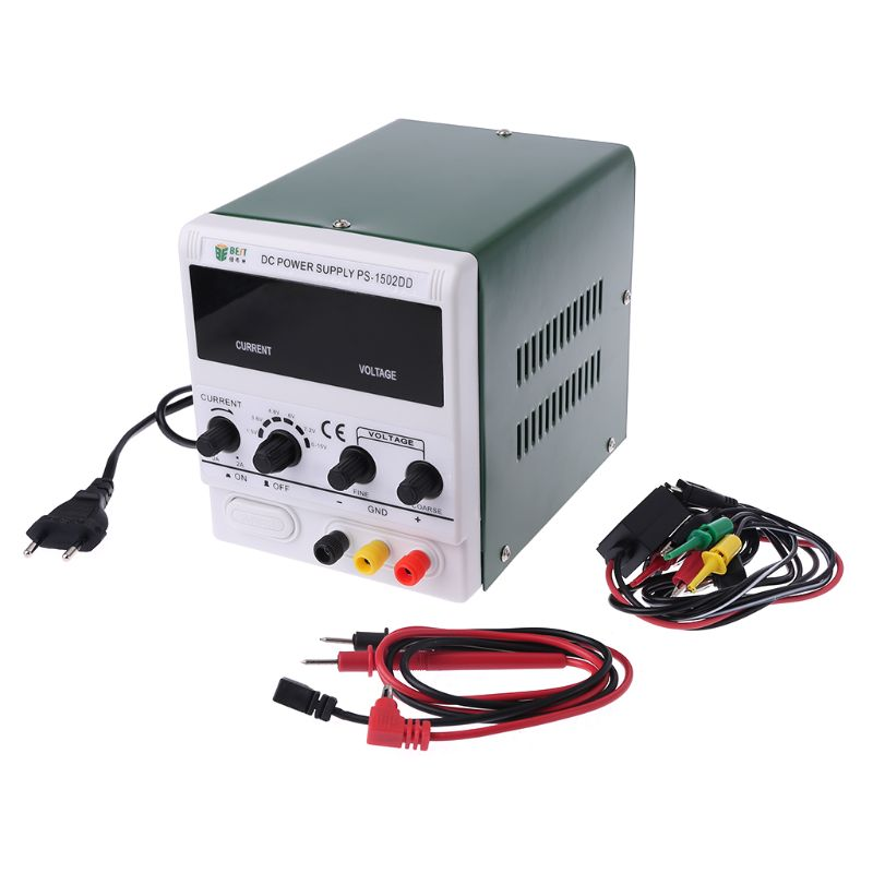 NEW BEST-1502DD Mobile Phone Repair DC Adjustable Power Supply Voltage Regulator Regulated Power Supply 0-15V 2A 220V