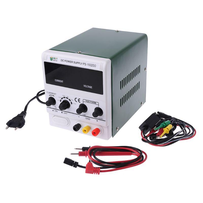 NEW BEST 1502DD Mobile Phone Repair DC Adjustable Power Supply Voltage Regulator Regulated Power Supply 0 15V 2A 220V
