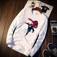 Skipoem The Avengers Superhero Movie Figur Funny Tshirt Custom Cotton O Neck Top Tees Plus Size Long Sleeve Brand Unisex Shirts