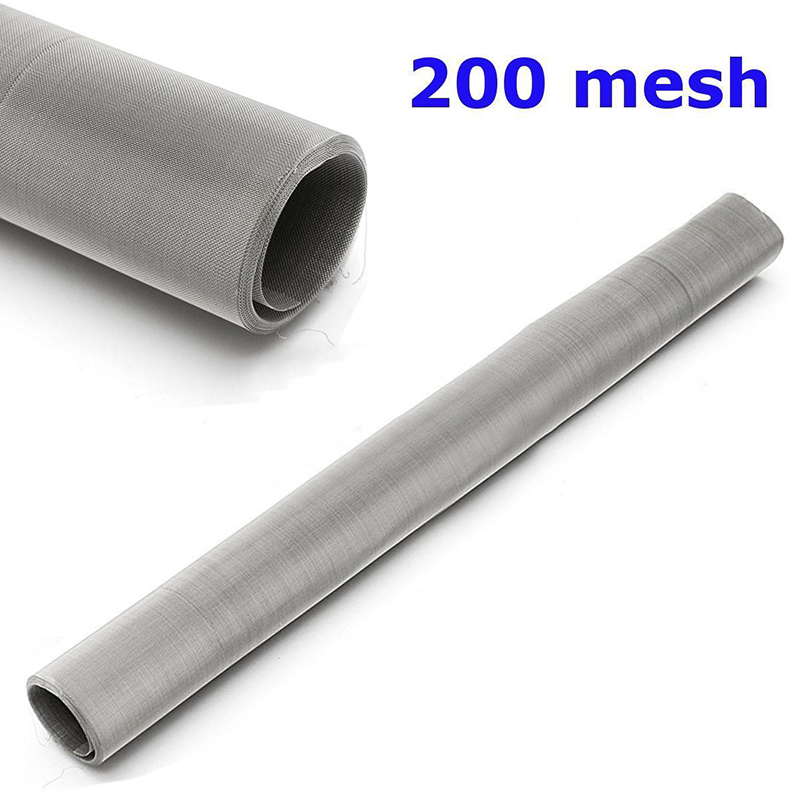 1pc 304 Stainless Steel Woven Wire 200 Mesh Filtration Water Oil Screen Filter 30x60cm For Filtering Water Oil 10 mesh filtration stainless steel woven wire cloth screen filter sheet 30 30cm for filtering industrial paint oil water mayitr