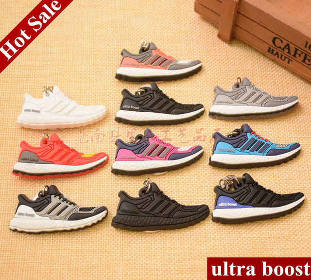 100 pieces Mini Silicone Ultra Boost Keychain Bag Charm Woman Men Kids Key  Ring Gifts Sneaker f6a9010826c8