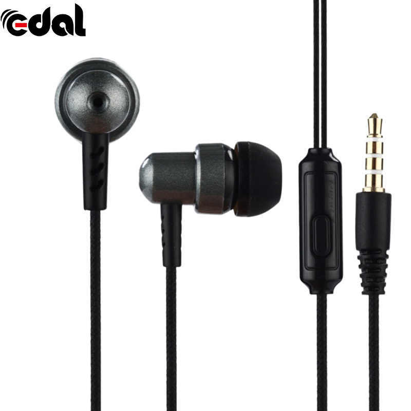 EDAL Earphones 3.5mm In-Ear Stereo Earbuds Braided Rope Line Wired Earplugs 5 Color Earphone With Mic For iPod iPhone MP3