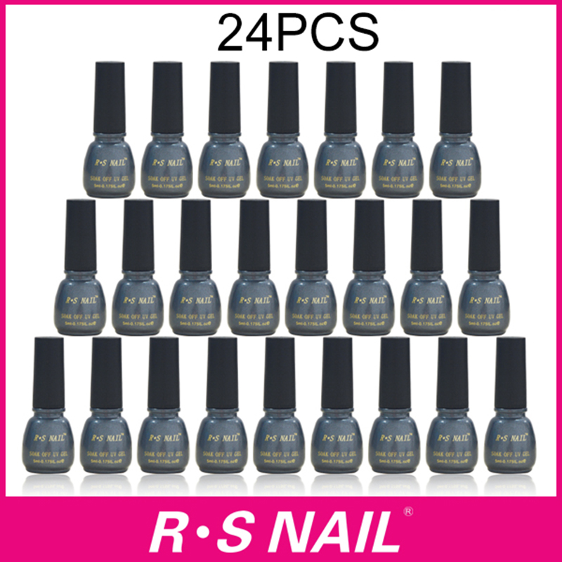 RS NAIL 24PCS 3 step gel nail polish set with 1pcs base + 1pcs top coat Gel nails primer nail glue gel varnishes 20pcs gel nail primer top coat and base coat magnetic gel cat s eyes gel nail gelfor uv gel polish best on 15ml nail sticker