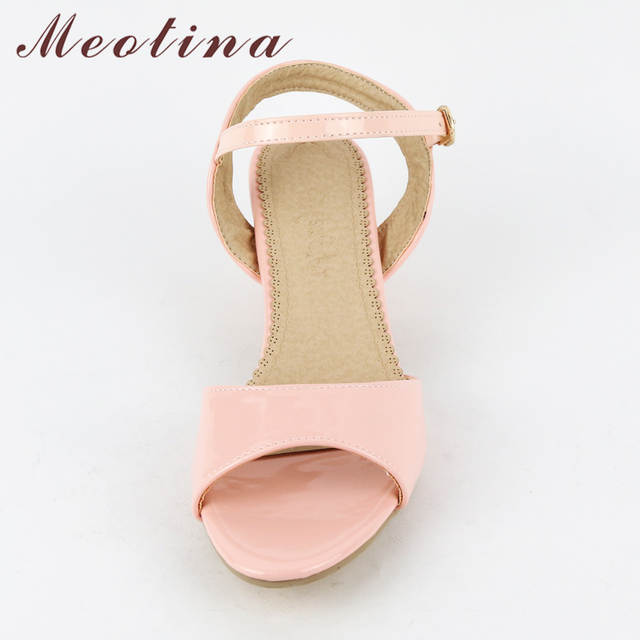 placeholder Meotina Women Sandals 2018 Summer Shoes Sandals Size 9 10 Open Toe  Ladies Chunky High Heels 9b8358e7a145