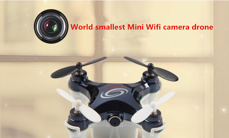 Newest 24G Mini Wifi Camera Drone App Controlled Nano Quadcopter With 03Mp Smallest WIFI Real Time In Remote Control Toys From