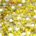 1440pc/bag SS16 4mm Citrine Yellow Non HotFix FlatBack Rhinestones,Glass Glitter Glue-on Loose DIY Nail Art Crystals Stones 16ss