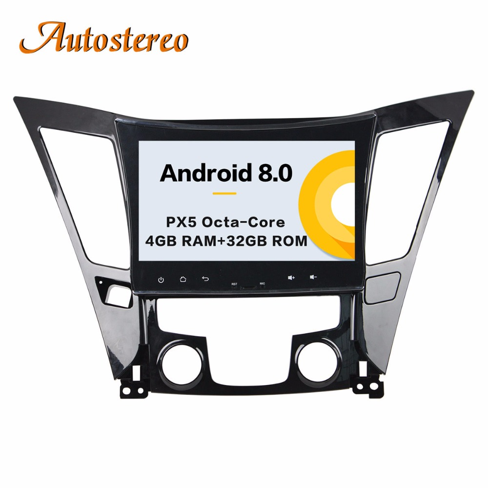 Autostereo Android 8 4+32G Car DVD Player GPS navigation For Hyundai SONATA 2011-2013 head unit multimedia player tape recorder цены