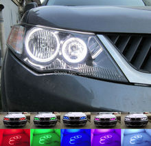 Para Mitsubishi Outlander 2007 2008 2009 proyector No Excelente Ultrabright Angel Eyes Multi-Color RGB LED Angel Eyes kit