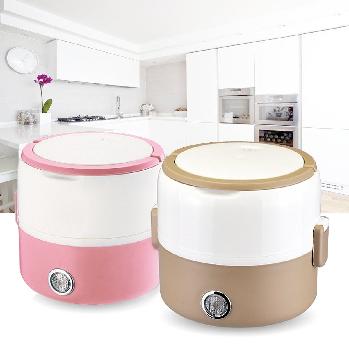 1Pcs Electric Heating Container Mini Rice Cooker Portable Compact Food Warmer Lunch Reheating food Box rice cooker parts paul heating plate 900w thick aluminum heating plate