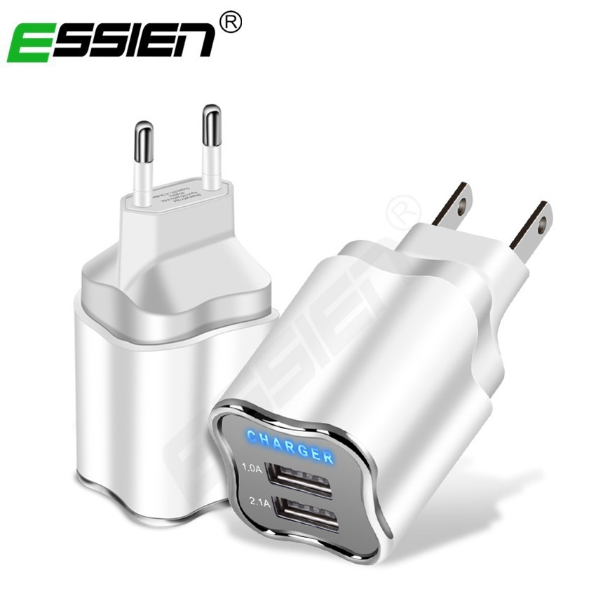 Essien 5V/2.1A USB Wall Phone Charger for Mobile Phone Fast Charger Mobile Charger with for iphone/Micro USB cable for Samsung