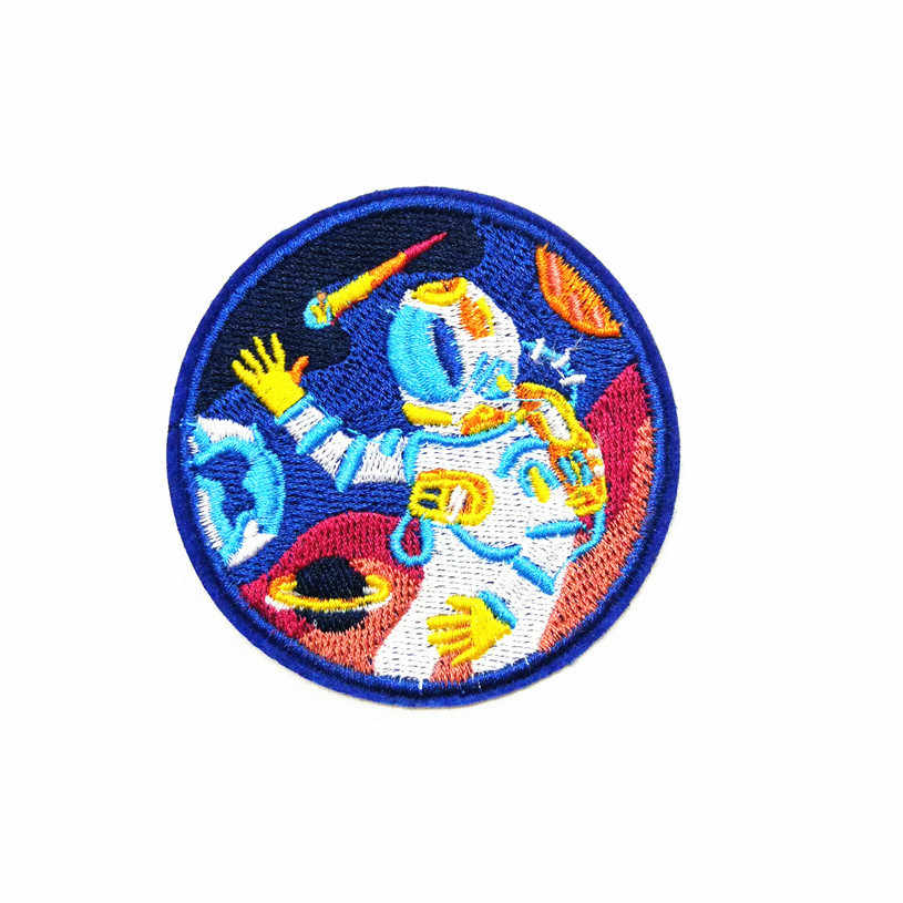 Borduurwerk Patches Voor Kleding Astronaut Rocket Star Wars Patch Logo Iron On Patches Hart Kleren Stickers Ufo Merk Patch