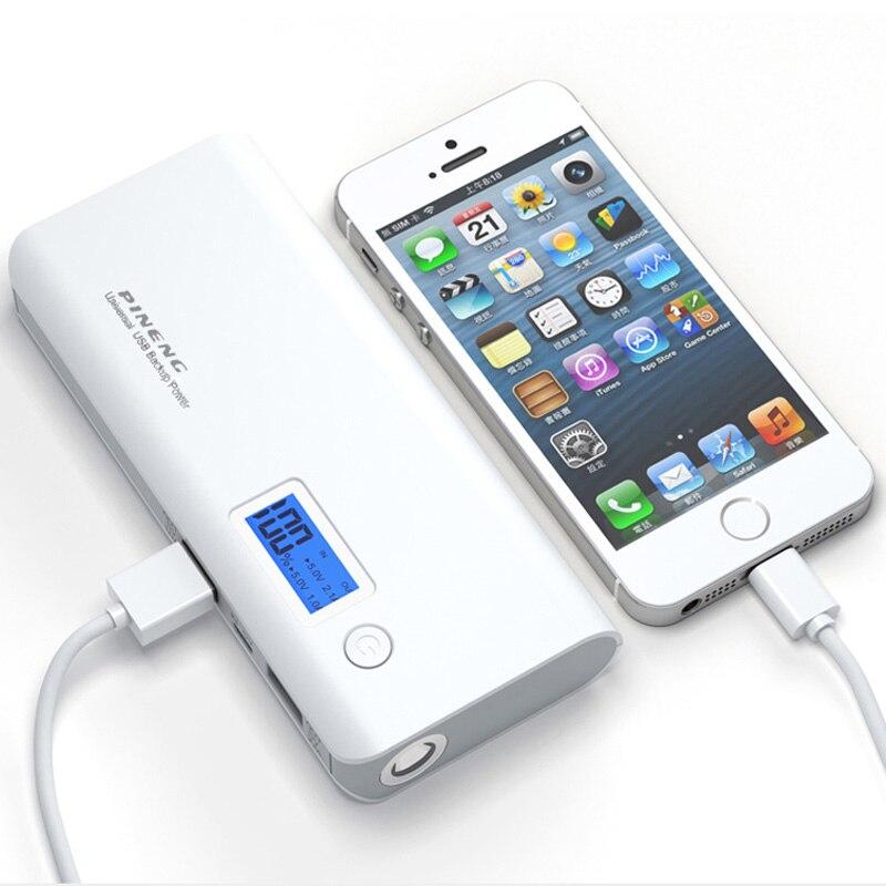 imágenes para Original pineng banco de la energía 10000 mah dual usb lcd exteral batería powerbank cargador portátil para el teléfono móvil