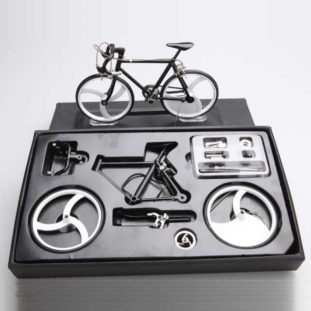 1/6 Bicycle Model DIY Alloy Children Model Bicycle DIY Toy for Gift