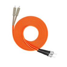 SC to ST Multimode fiber patch cord  SC/ST Fiber Patch Cable UPC Polish MM Optical jumper Duplex OM2 OFNP 3m 5m 10m 15m