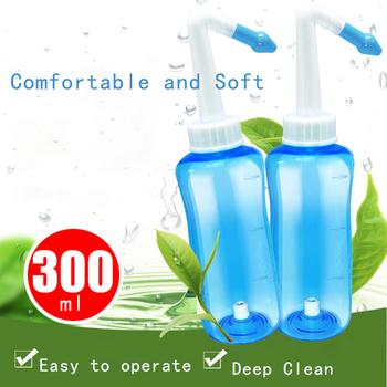 300ml System mycia nosa oczyszczanie Sinus alergie ciśnienie nosa naczynie do płukania nosa nos dla dorosłych dzieci narzędzia do czyszczenia tanie i dobre opinie CAMMUO Plastic ABC Przypadki i rozgałęźniki pigułka Jam000670 1 Set