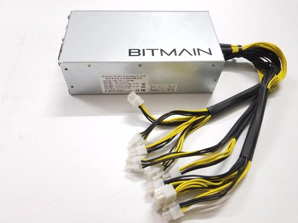 YUNHUI BTC LTC DASH BITMAIN APW7 1800 w di Potenza di Alimentazione Per Antminer S9 S9i Z9 L3 + D3 T9 + e3 Innosilicon A9 D9 A10 ETH PSU