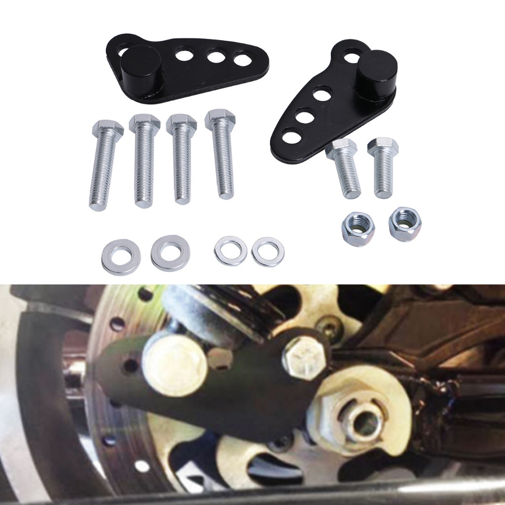 New Black Lowering Kit 1-3 Rear Adjustable Lowering For Harley Street Glide Road King Glide Touring Ultra 2002-2015 C/5 king ring street album no 1