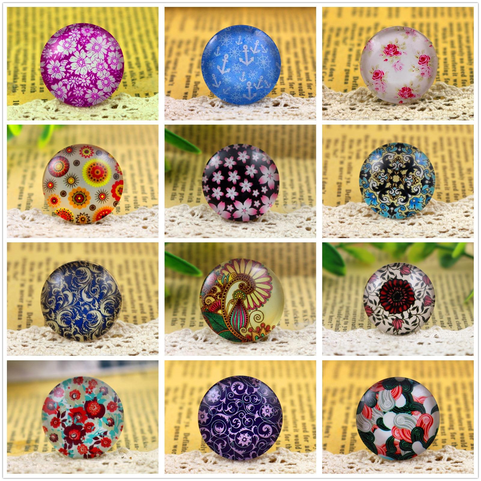 Hot Sale 5pcs/Lot 25mm Handmade Photo Glass Cabochons (Color Patterns)