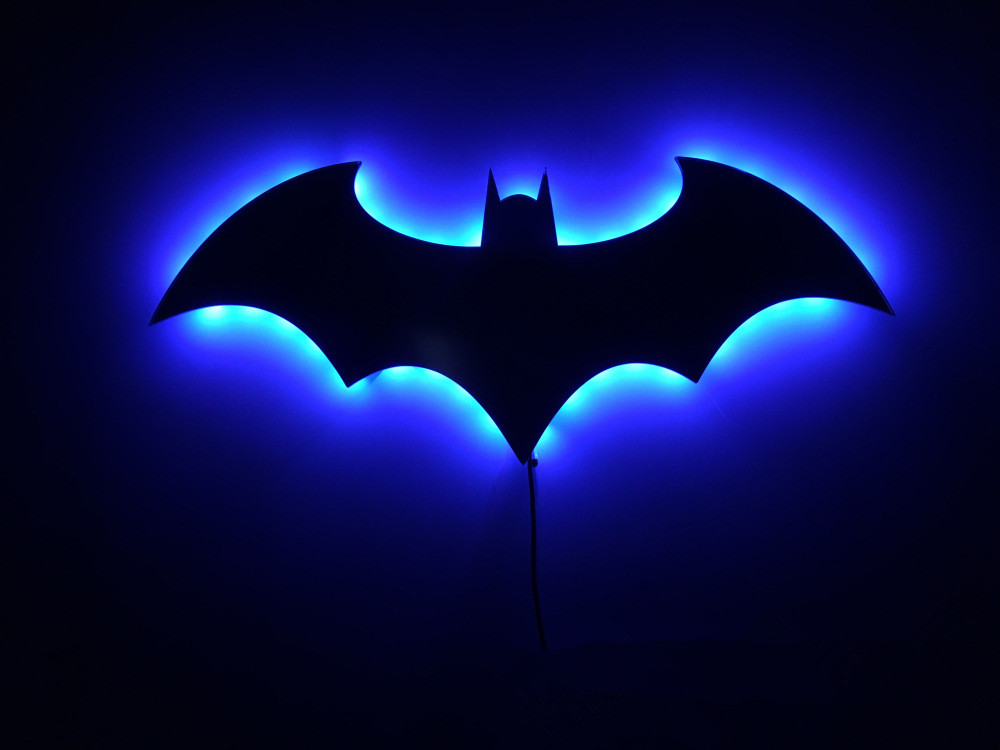 Batman 3D Color Changing Led Wall Lamp Night Light Batman Symbol Creative Novelty RGB Light Action Figure Toy For Christmas Gift