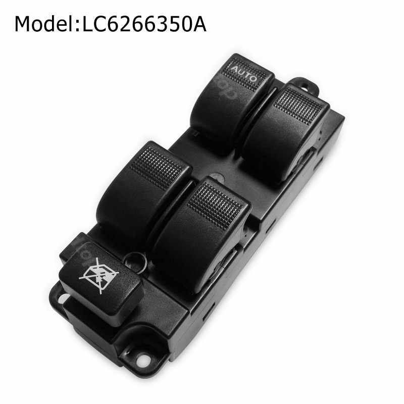 Car Switches Button LC6266350A LC62-66-350A Electric Power Master Window Front Left Side For 2001-2006 Mazda MPV Replace Parts