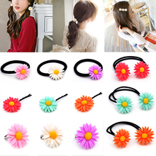 1PC Cute Colorful New Daisy Hair Band Sun Flower Clip Marguerite Rope 5Colors Headwear