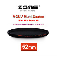 52mm ZOMEI PRO Ultra Slim HD MCUV 18 Layer Multi Coated Optical Glass MC UV Filter for Canon NIkon Hoya Sony Camera Lens 52 mm