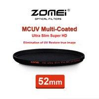 52mm ZOMEI PRO Ultra Slim HD MCUV 18 Layer Multi Coated Optical Glass MC UV Filter for Canon NIkon Hoya Sony Camera Lens 52 mm
