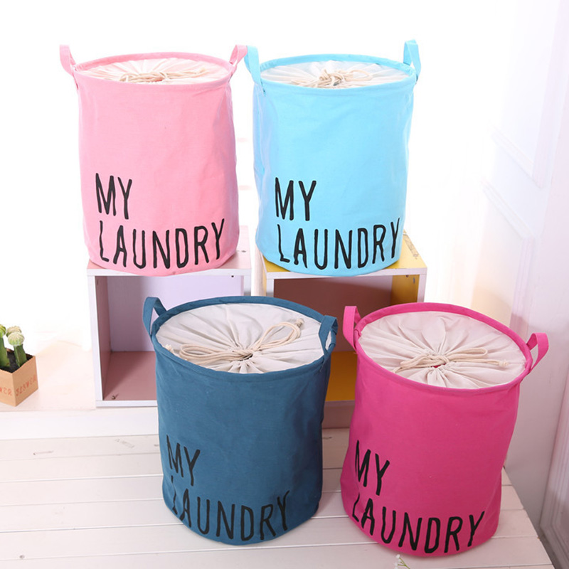 Image 5 - Colorful Organizer Cotton Linen Waterproof Home Storage Bag Fabric Hamper Debris Box Laundry Storage Basket 2019 Hot Sale-in Foldable Storage Bags from Home & Garden