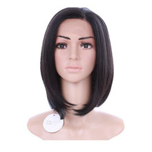 peruca hair queen 2016 Factory outlets Afro Cabelo Sex short bob straight natural wig Black lace frontal closure with bundles pe