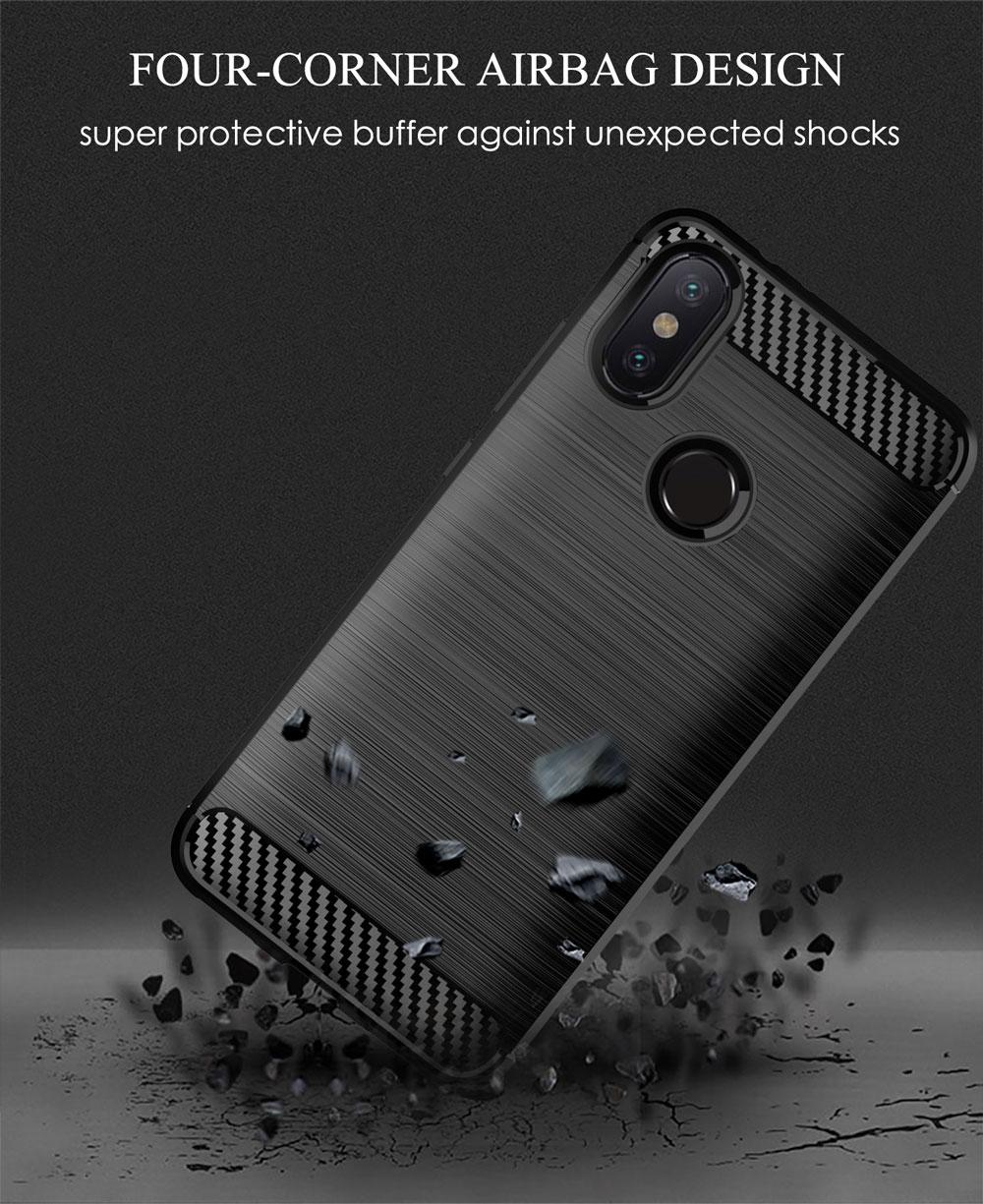 Image 5 - Phone case For Xiaomi Mi A2 6X Mi6X MiA2 A 2 6 X Xiaomi6X XiaomiA2 Silicone Rugged Armor Soft Fiber Cover Carbon Fundas Coque-in Half-wrapped Cases from Cellphones & Telecommunications
