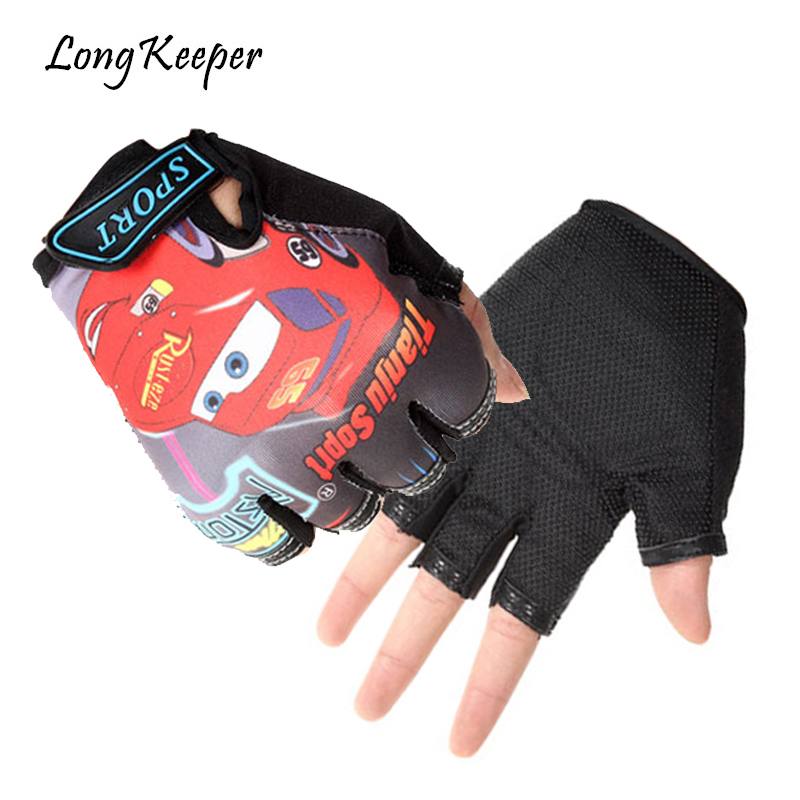 Long Keeper Cute Golves For 5-13 Years Sport Gloves Adjustable Half-finger Boys Girls Gloves Work Out Guantes For Children G085